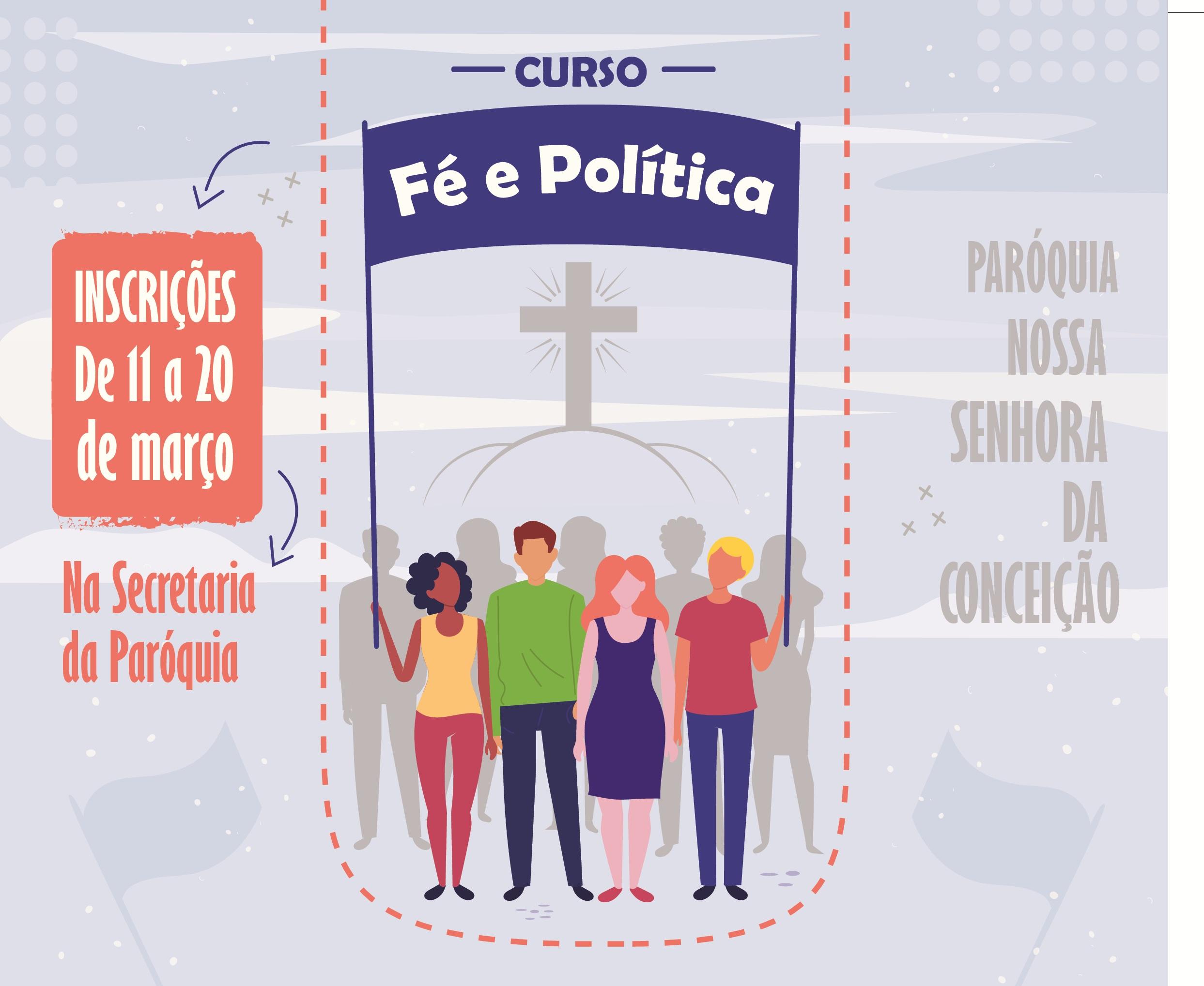 Cartaz Curso Fé e Política